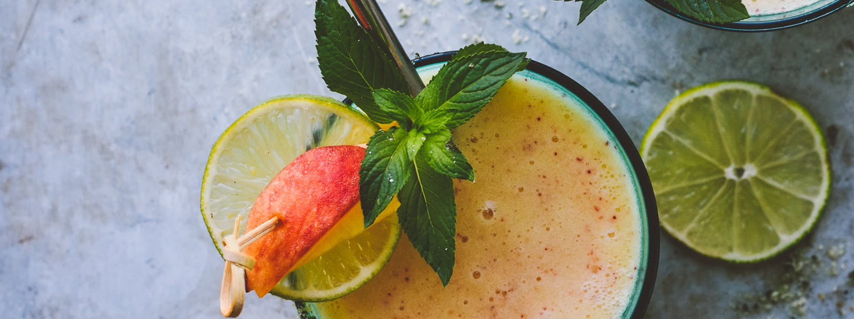 Grilled Summer Peach Margaritas