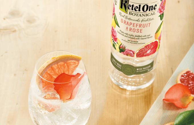 Ketel Botanical Grapefruit and Soda