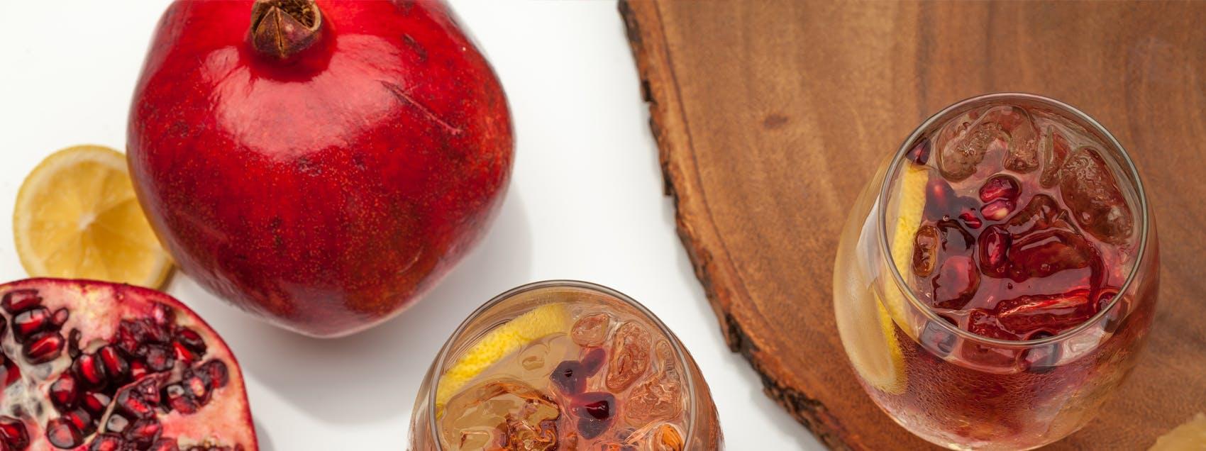 Pomegranate and Lemon White Wine Spritzer